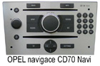 Opel navigace CD70 Navi