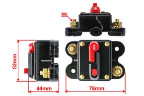 Elektronický jistič 40A - rozměry