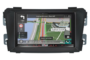 Rámeček 2DIN autorádia Hyundai i40 s vestavěnou navigací