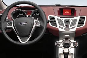 Ford Fiesta (08-13) s OEM multifunkčním displejem - interiér