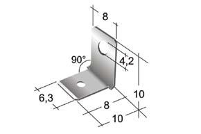 Nýtovací konektor 6,3mm / 90° / 4,2mm - rozměry