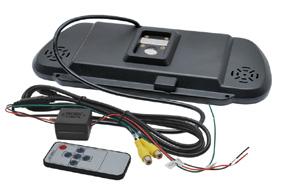 BK-073MA monitor v univerzálním zrcátku - obsah balení