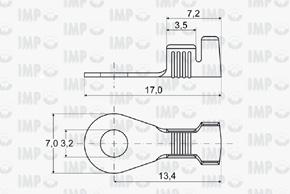 Kabelové oko Ø 3,2mm - rozměry
