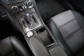 nbay® Qi nabíječka Mercedes C [W204] - umístění v automobilu