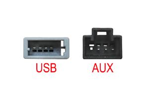 Adaptér pro USB konektor SsangYong Tivoli (15->) - detail konektorů