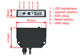 USB kabel pro Dension Gateway