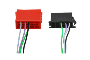 ISO adaptér pro autorádia - detail zapojení