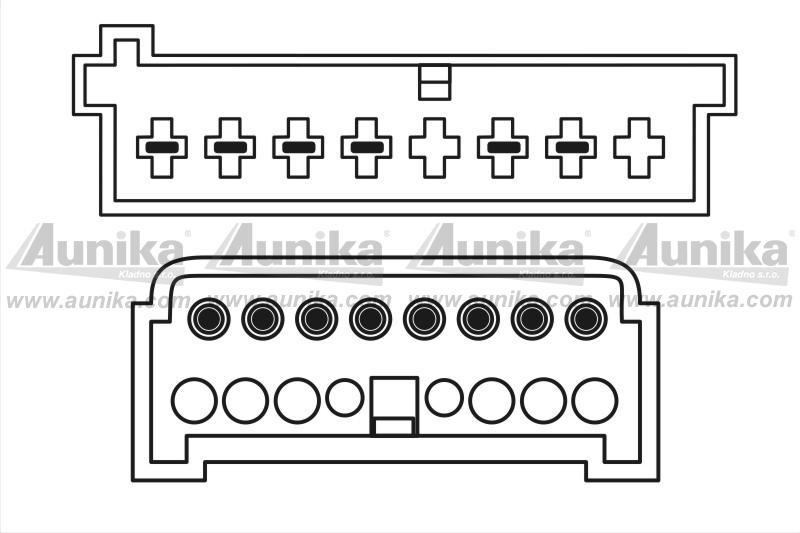 ISO adaptér pro autorádia Ford / VW / Seat