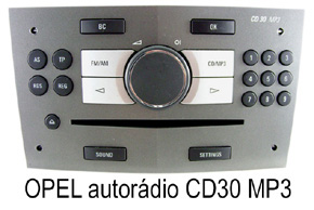 OPEL autorádio CD30MP3