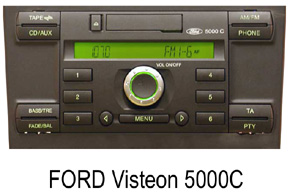 FORD autorádia Visteon 5000C