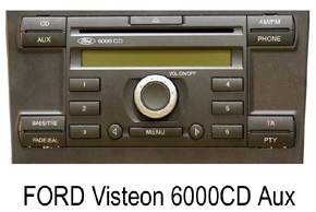 FORD autorádia Visteon                   6000CD
