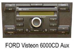 FORD autorádia Visteon 6000CD