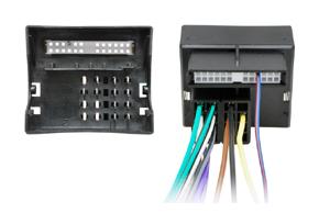 ISO adaptér pro autorádia Opel - detail konektoru