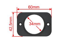 Panel pro USB zásuvku - rozměry