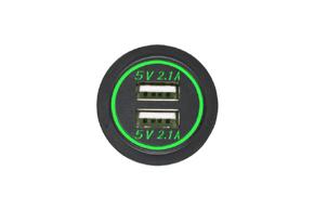 Adaptér 12V -> 2x USB 5V / 4,2A