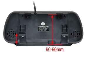 BK-073MB zpětné zrcátko s monitorem 7