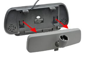 BK-073MB zpětné zrcátko s monitorem 7 - instalace na OEM zpětné zrcátko