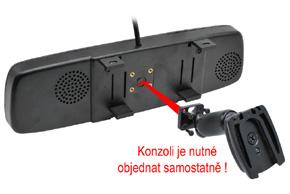 BK-043LU monitor v univerzálním zrcátku - upevnění pomocí konzole na sklo