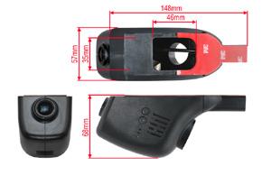 DVR kamera univerzální - rozměry