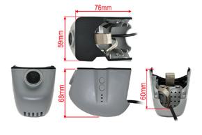DVR kamera Audi - rozměry