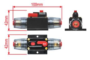 Elektronický jistič 80A - rozměry