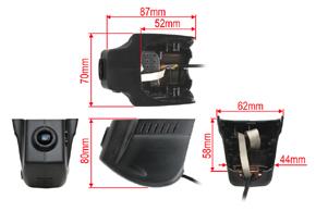 DVR kamera VW Touran / Passat - rozměry