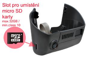 DVR kamera Jeep Cherokee - umístění SD karty
