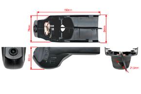 DVR kamera BMW - rozměry
