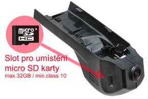 DVR kamera BMW - umístění SD karty