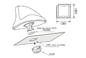 Adaptér pro anténu Opel