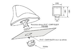 Adaptér pro anténu Fiat / Chrysler