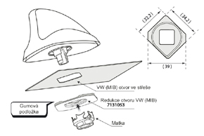Adaptér pro anténu VW MIB