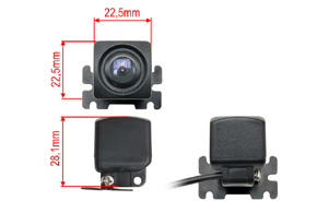 CCD univerzální zadní / přední parkovací kamera - rozměry