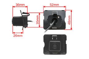 CCD parkovací kamera Mercedes ML - rozměry