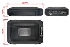 MACROM M-SW680 aktivní subwoofer - rozměry