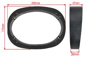 Distanční podložka zkosená repro 6x9 - rozměry