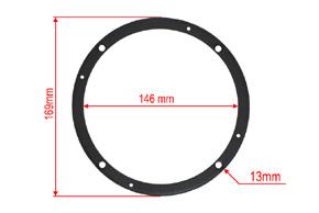 Distanční podložka 165mm - rozměry