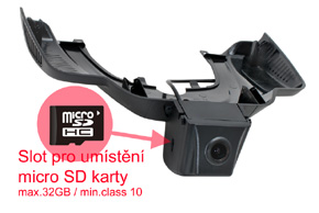 DVR kamera Mercedes GLE - SD karta