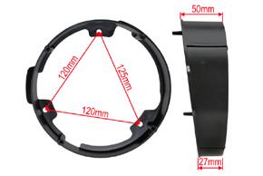 Plast.adaptér repro Ford C-Max / Focus (10->) - rozměry