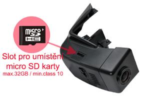 DVR kamera VOLVO XC90 (15->) - SD karta