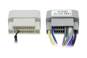 Adaptér pro ovládání na volantu Chrysler / Dodge - detail konektoru ze strany vodičů
