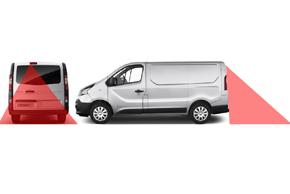 CCD parkovací kamera Renault Trafic / Opel Vivaro - místo instalace