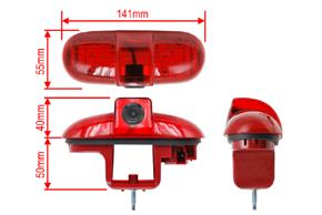 CCD parkovací kamera Renault Trafic / Opel Vivaro - rozměry