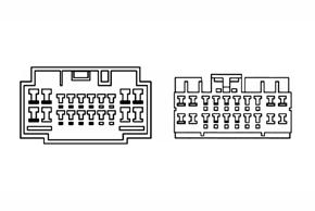 HF mute modul pro aktivní audio systém - detail konektoru