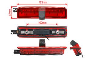 CCD parkovací kamera VW Caddy - rozměry