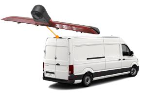 CCD parkovací kamera VW Crafter II. - umístění na automobilu