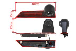 CCD parkovací kamera Ford Transit Custom (5/16->) - rozměry