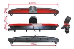 CCD parkovací kamera Iveco Daily - rozměry