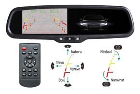 AK-043LAD monitor v zrcátku ztmavovací - nastavovatelné trajektorie