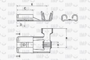 Konektor dutinka 6,3mm boční - rozměry